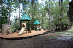 Host your child's birthday party at a playground/pavilion at Skidaway Island State Park