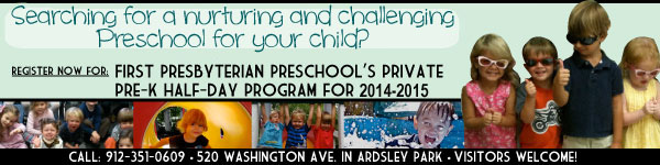 Savannah preschools First Presbyterian Preschool