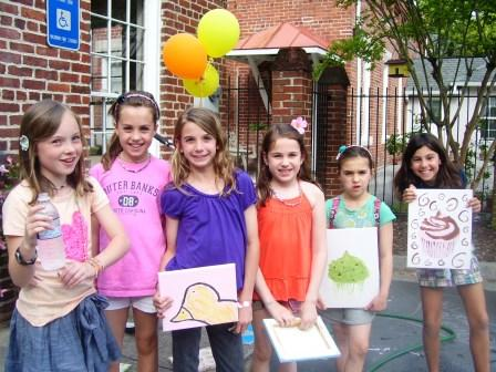 Art Parties at Carrie Christian's Scribble Art Studio