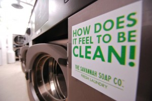 The Savannah Soap Co. green laundromat