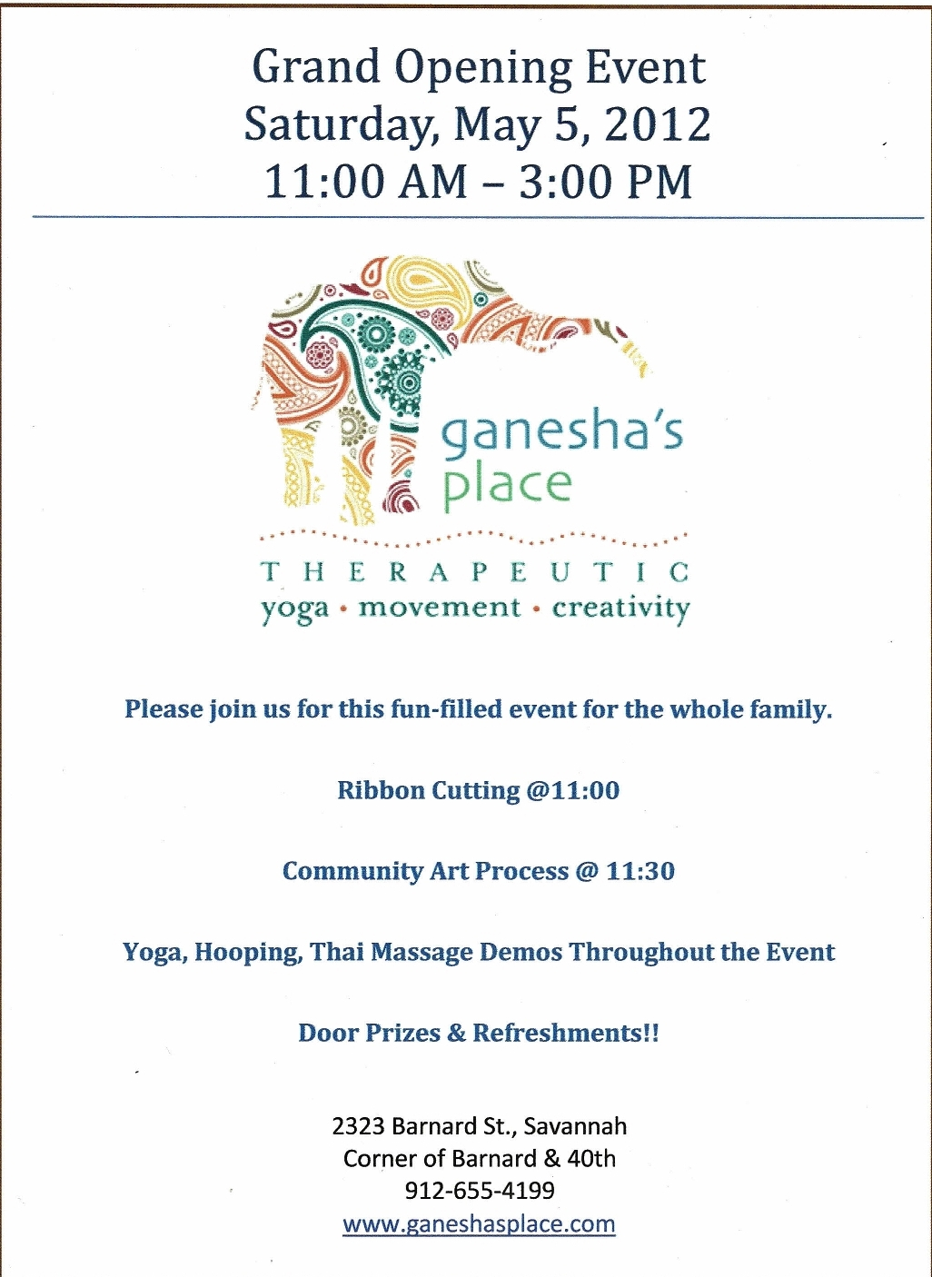 ganesha's therapeutic yoga savannah