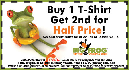 2f26f139 Big Frog Customized T-Shirts: BOGO for Father's Day gifts