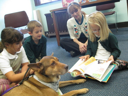 Reading program for kids; dog days Savannah