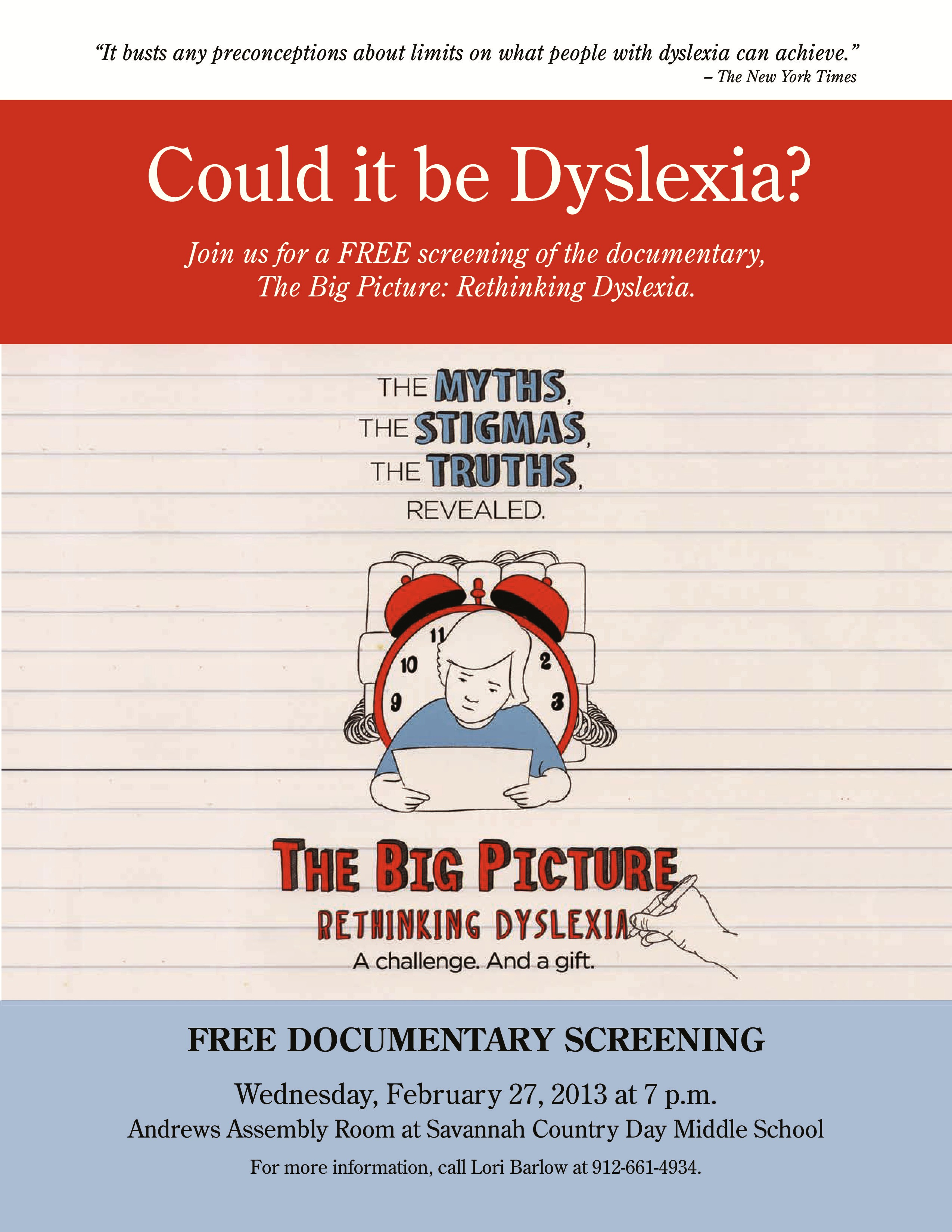 FREE Dyslexia event Savannah