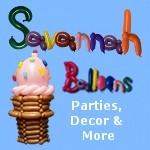 Savannah Balloons for Savnnah children's birthday parties