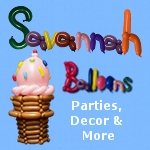 Savannah Balloons for Savnnah children's birthday parties