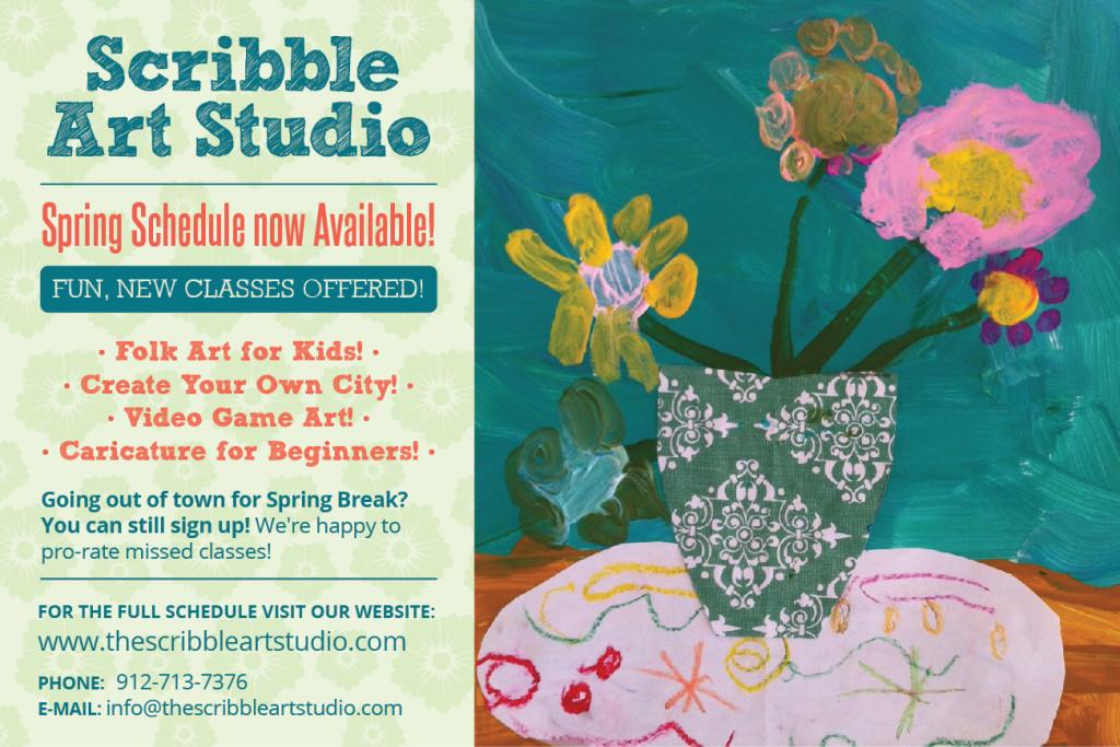 Scribble Art Studio in Savannah offers Spring 2013 classes for children in Savannah & Pooler