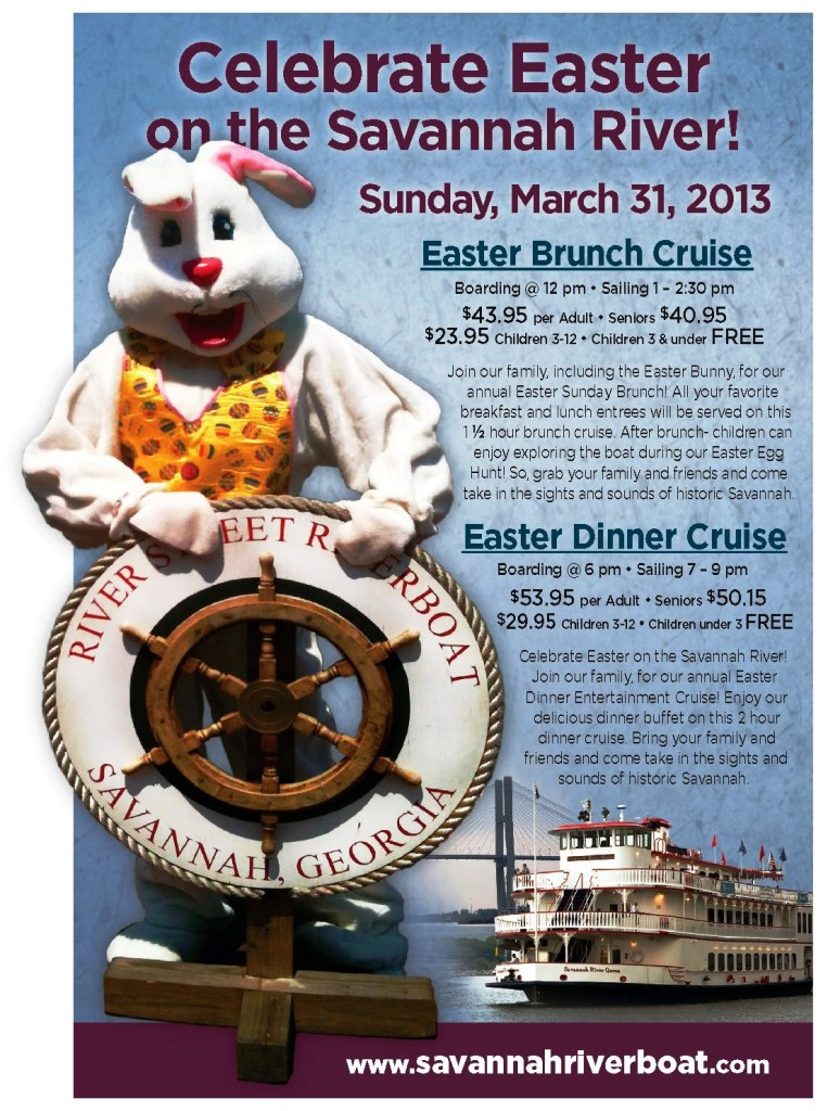 Easter Bunny cruises in Savannah 2013