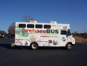 Archeobus hands-on kids' activities in Savannah