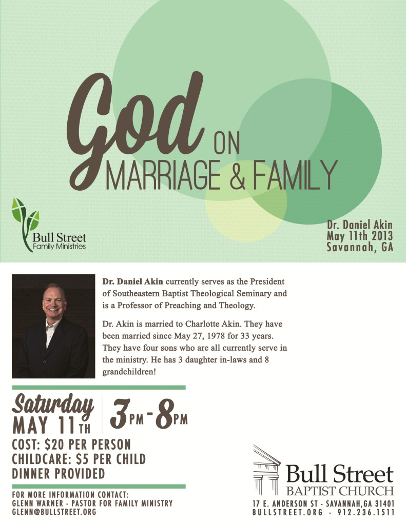 You're invited: Bull Street Baptist Church Marriage Conference