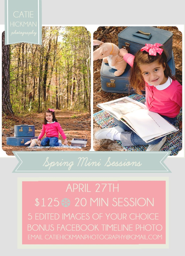 Catie Hickman Photography Spring Minisessions Savannah children's portraits 