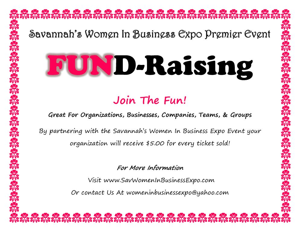 Savannah's Women in Business Expo Fundraising, Promotional Offer