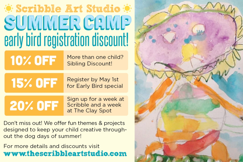 Scribble Art Camp Discounts Savannah Summer 2013
