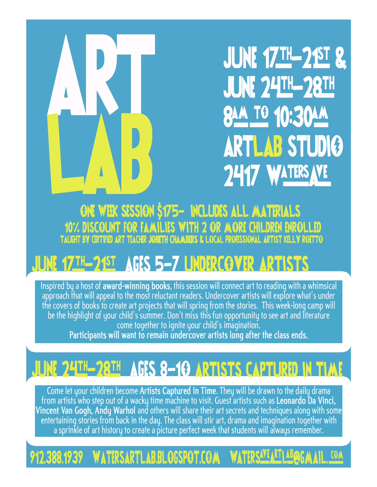 Art Lab Savannah Summer Camps/Classes