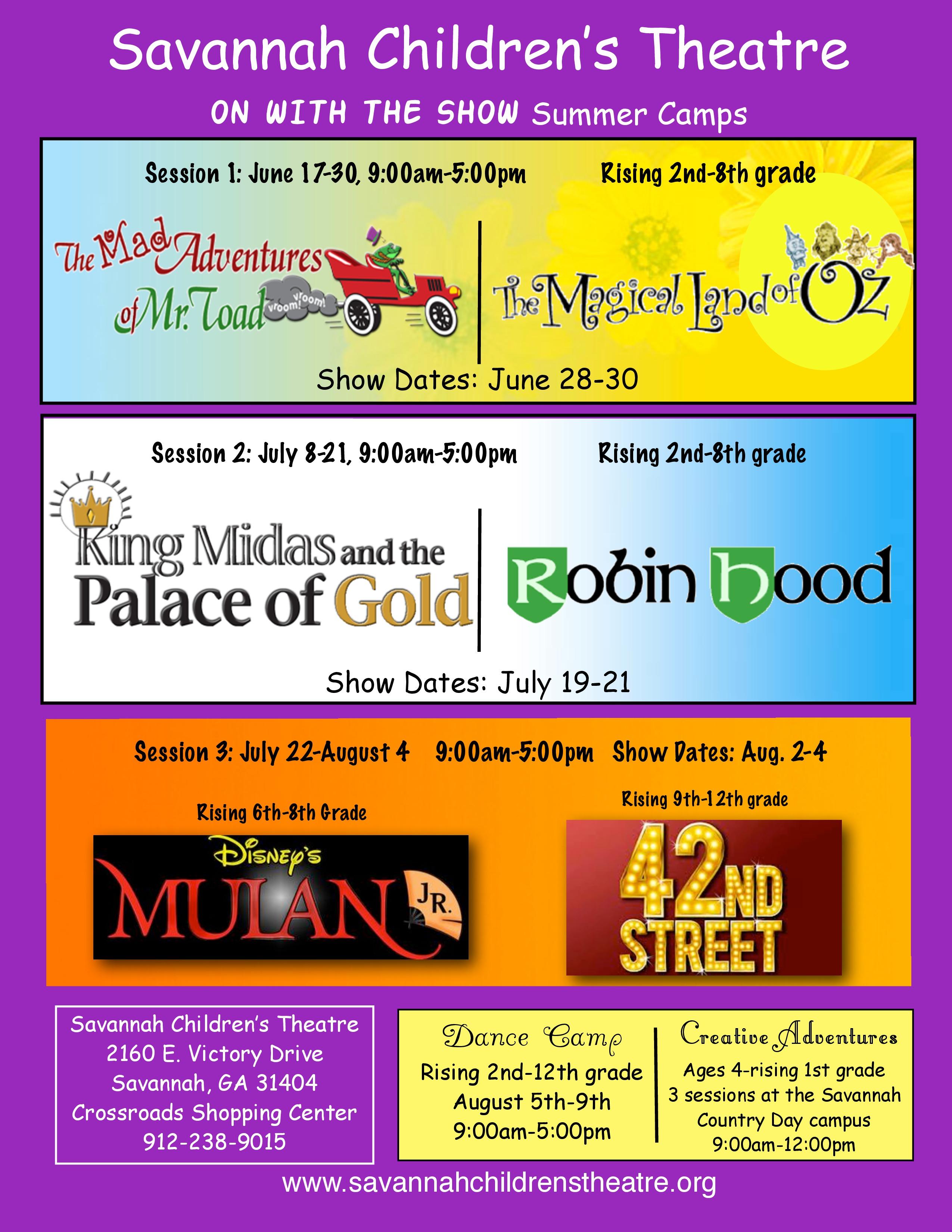 Savannah Summer Camps: Drama Camps at Savannah Children's Theatre