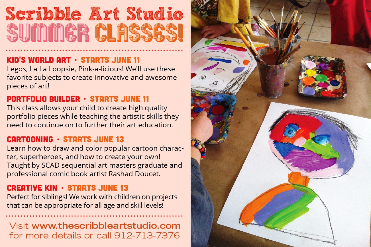 Kids summer art classes Savannah Pooler