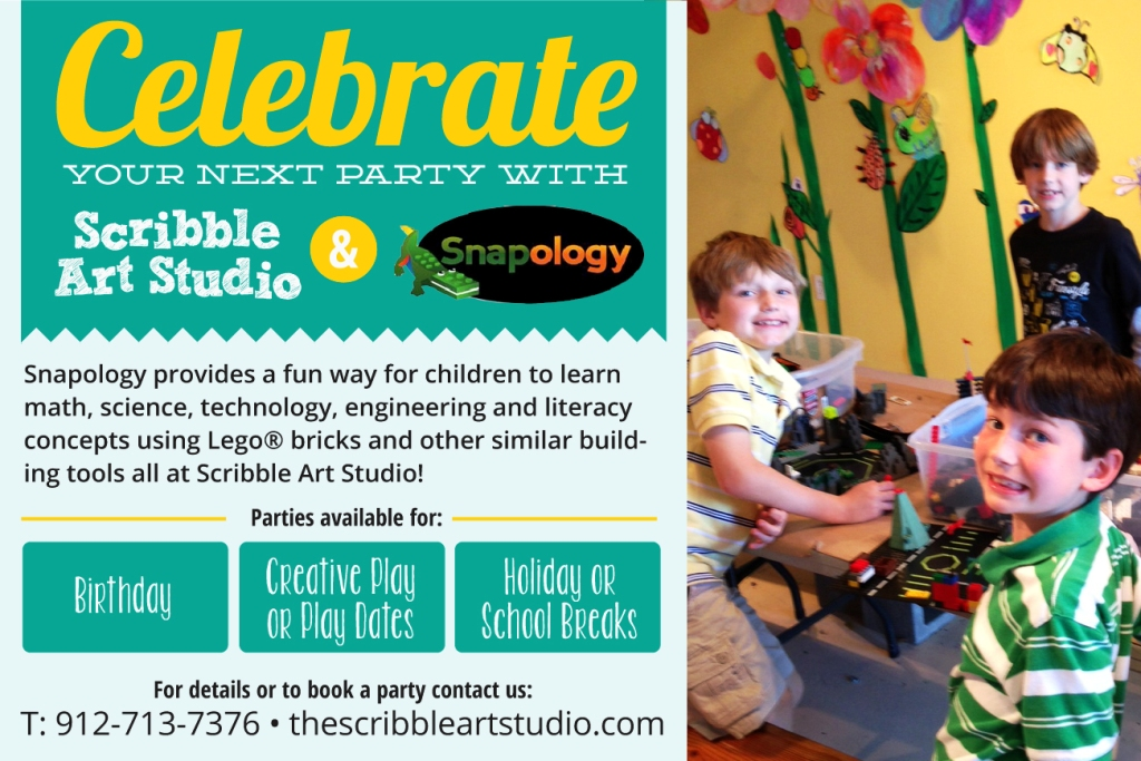 Scribble Art Studio offers Snapology parties