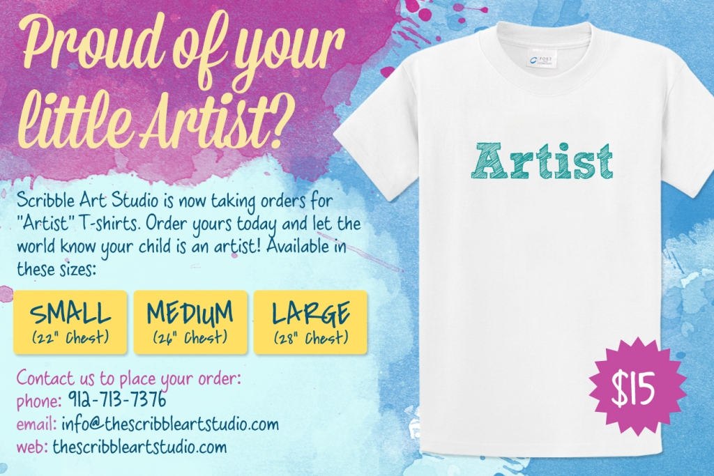 Scribble Art Studio T-shirts for kids Savannah