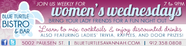 Savannah girls night out ideas: Women's Wednesdays at Blue Turtle Bistro in Savannah