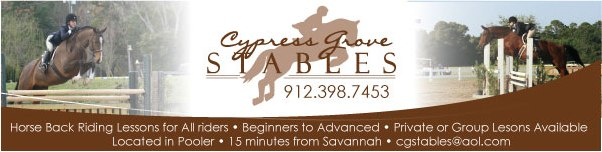 Horseback riding lessons in Savannah Pooler at Cypress Grove Stables