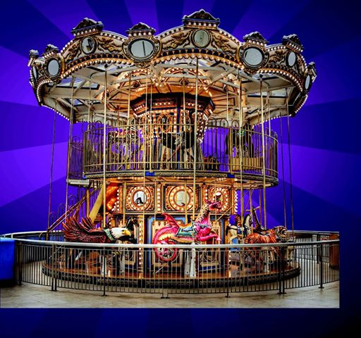 Savannah indoor play areas: Double-decker carousel, sand sculpture, train rides at Savannah Mall