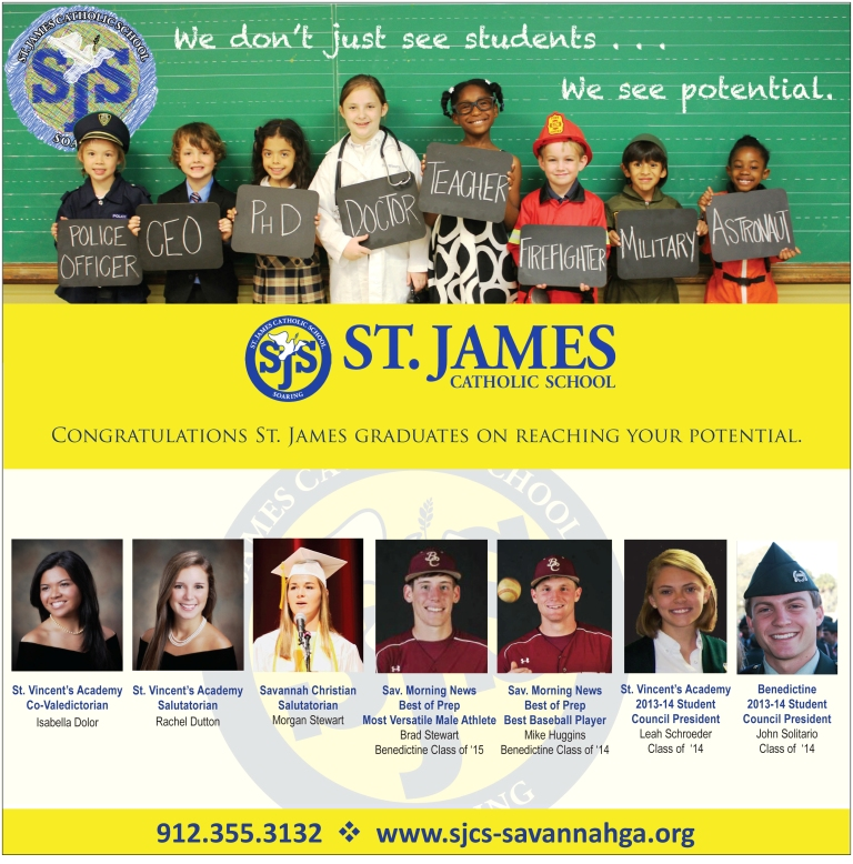 St. James Catholic School graduates