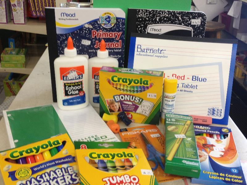 Barnett Educational Supplies Back to School supplies program