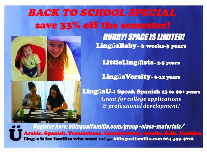 Lingua Spanish classes for kids in Savannah