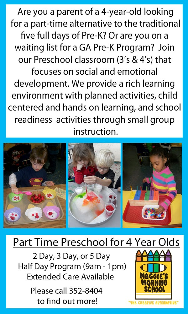Savannah part-time pre-K for 4-year-olds Maggies Morning School