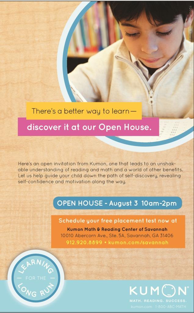 Kumon of Savannah tutoring Open House August 2013