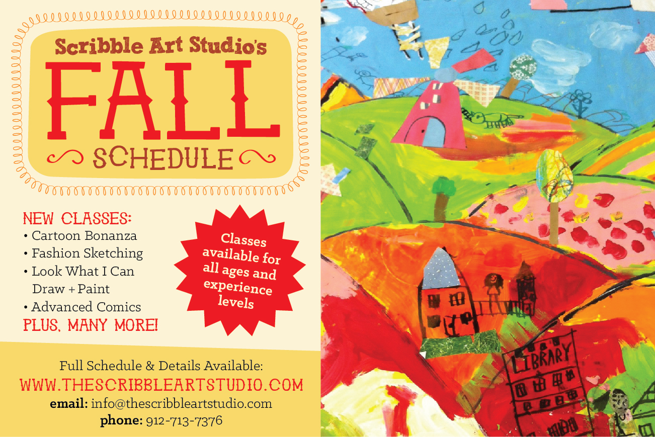 Fall 2013 Art Classes for Kids in Pooler, Savannah at Scribble Art Studio