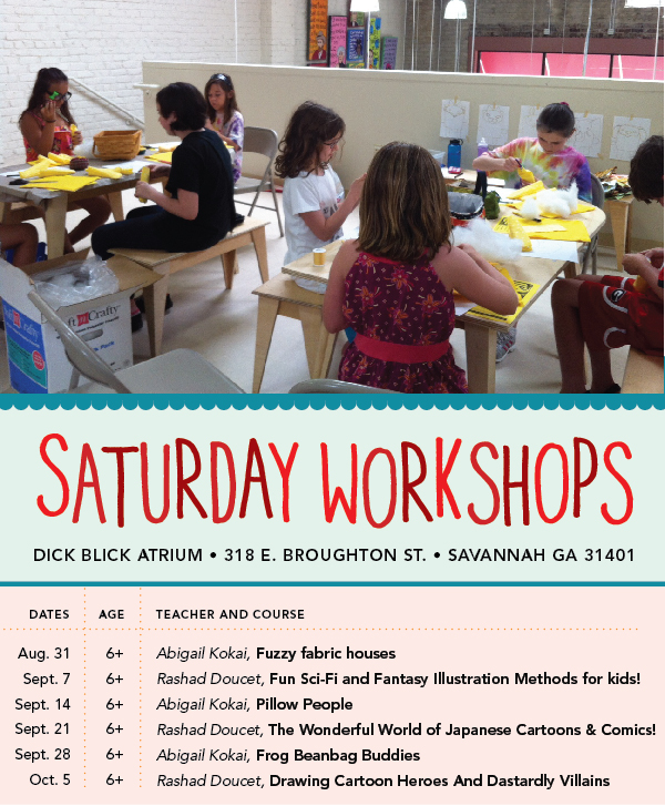 Saturday Art Workshops for Kids In Savannah