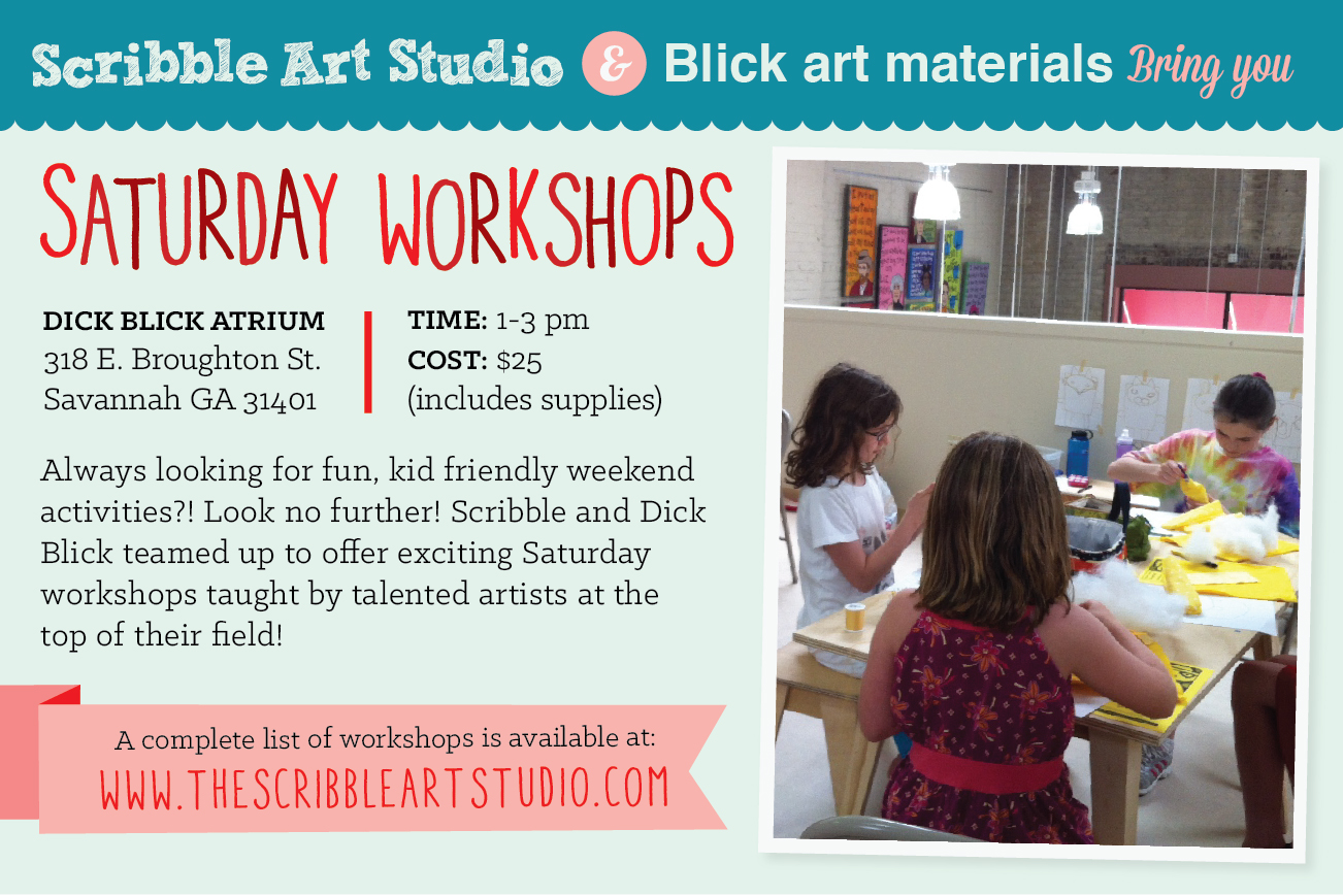 Scribble Saturday Fall 2013 Workshops at Dick Blick