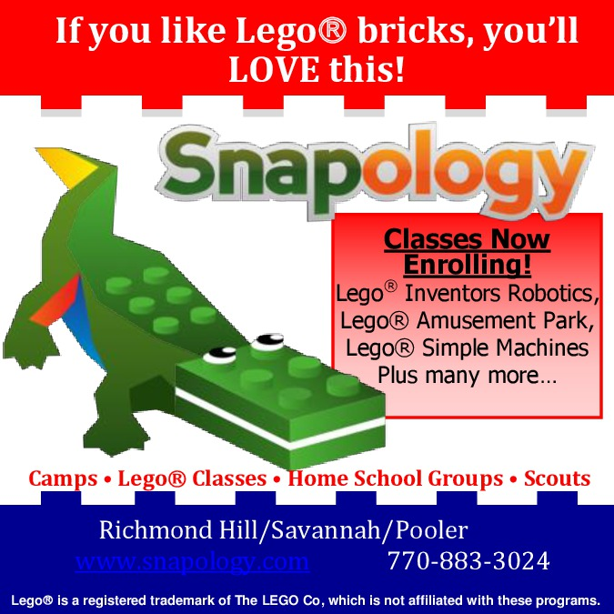 Snapology classes in Savannah, Richmond Hill