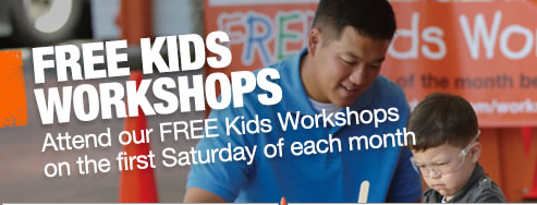 Free Kids' Home Depot Workshops in Savannah, Pooler, Hilton Head