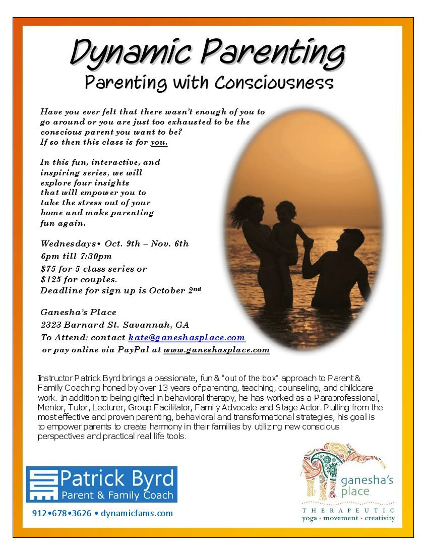 Dynamic Parenting Classes in Savannah @ Ganesha's Place
