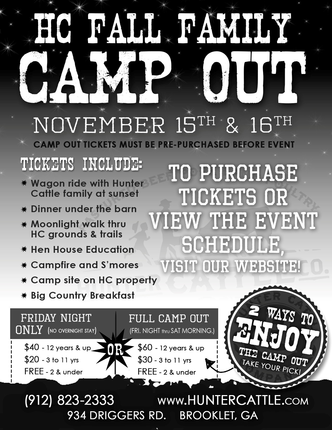 Hunter Cattle Co. Fall 2013 Campout