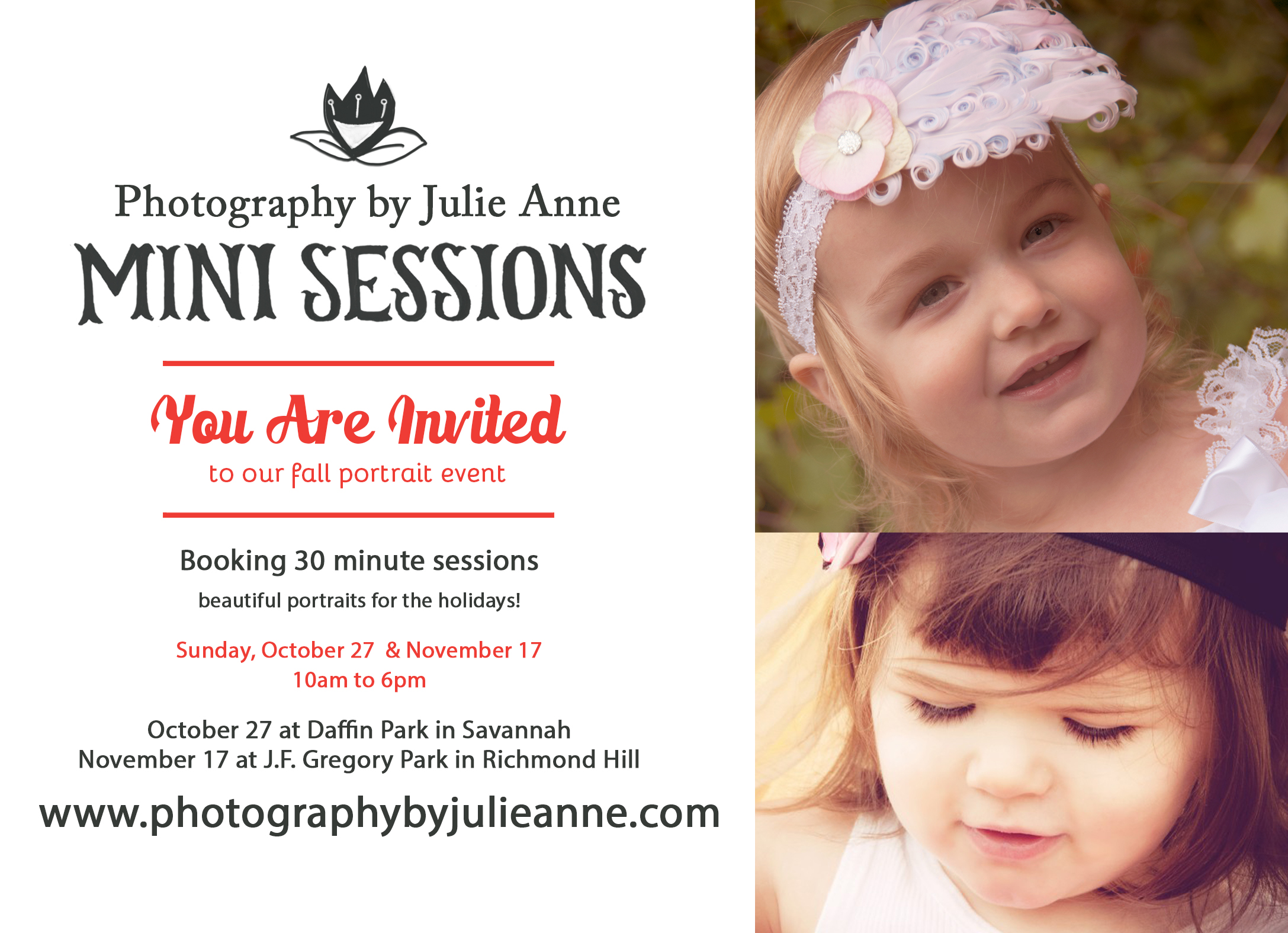 Photography by Julie Anne Fall Mini Sessions in Savannah