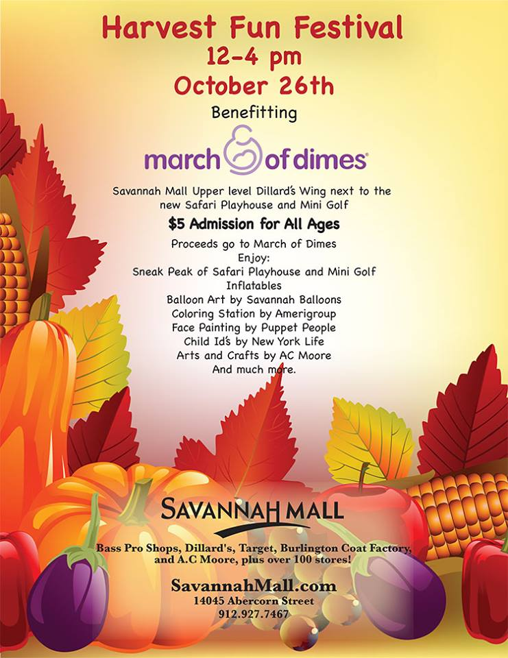 Savannah Mall Harvest Fun Festival March of Dimes