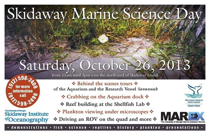 Skidaway Marine Science Day 2013