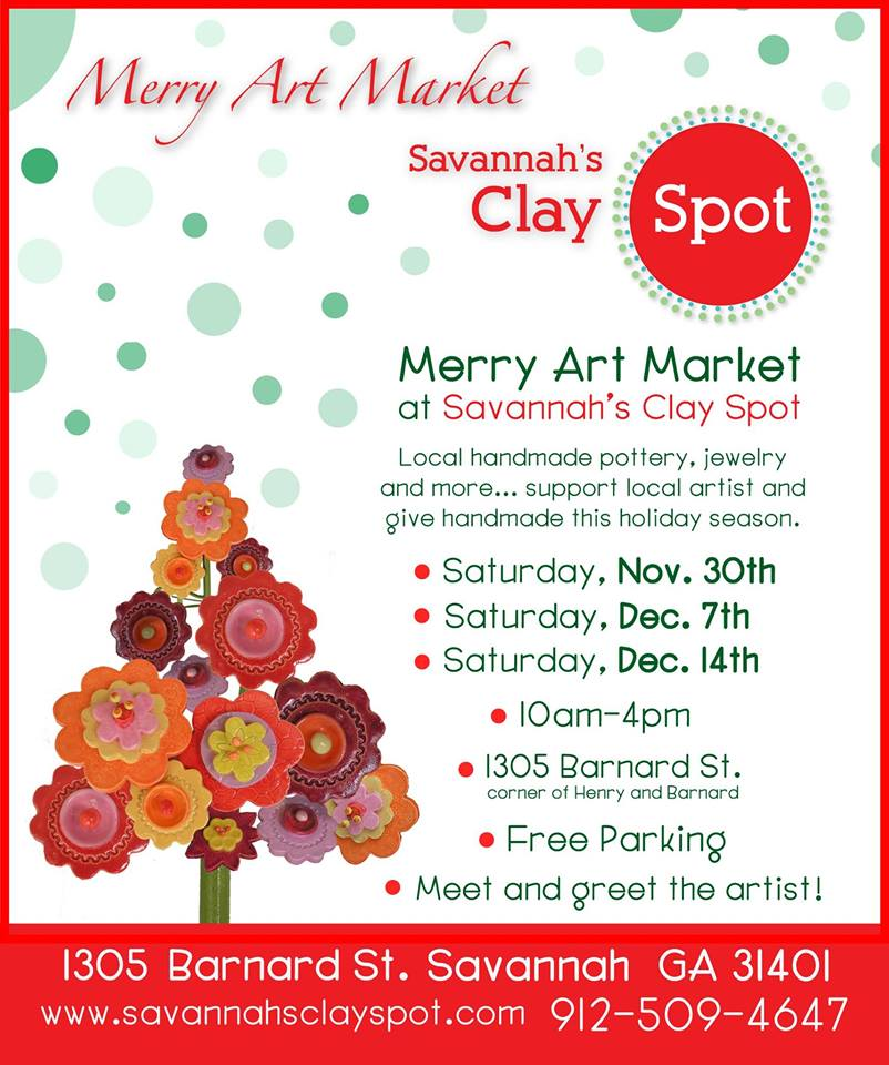Handmade art for holiday gifts Savannah shopping