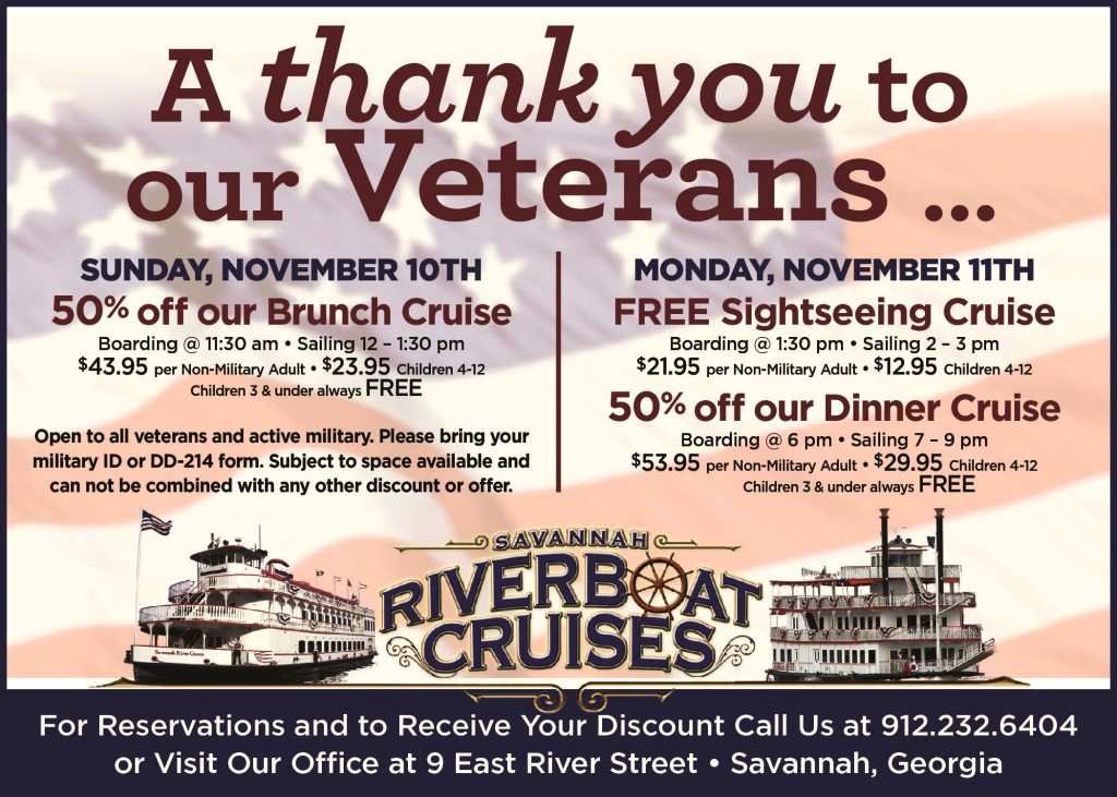 Veterans weekend cruises Savannah