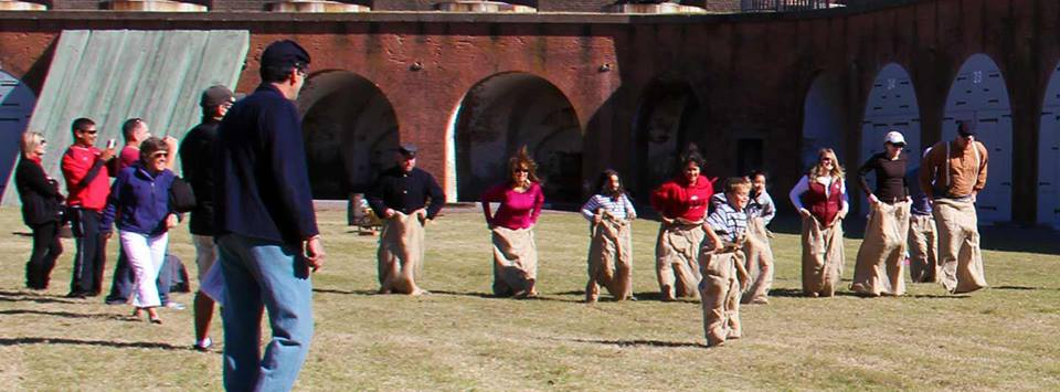 sack races fort pulaski