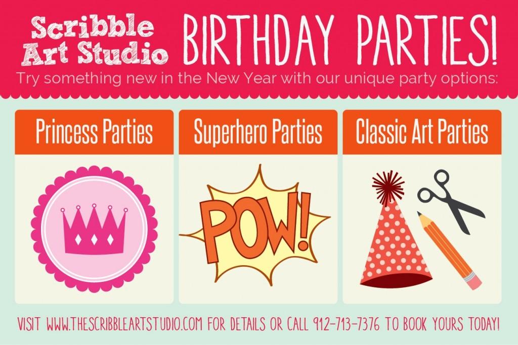 children's birthday parties in Savannah