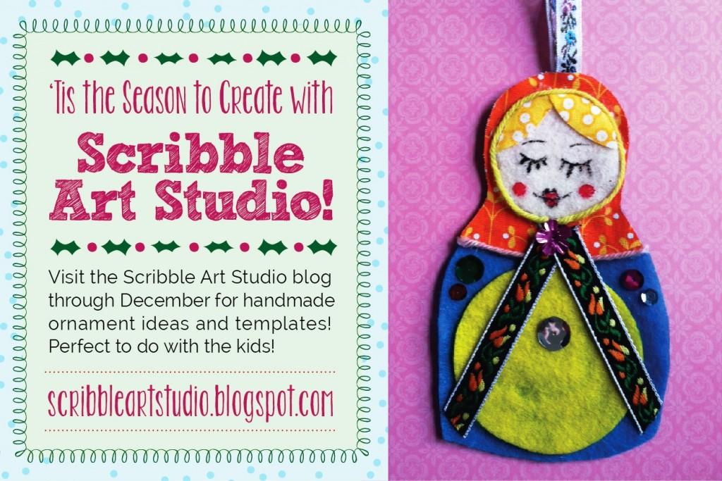 holiday art craft ideas for kids Scribble Art Studio blog