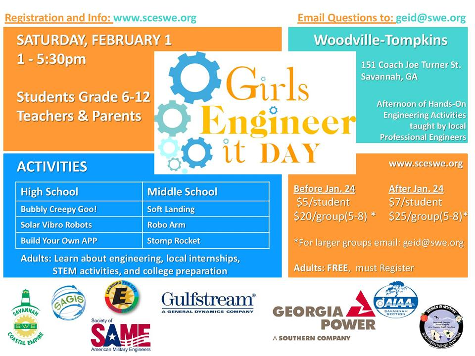 Girls Engineer It Day in Savannah 2014