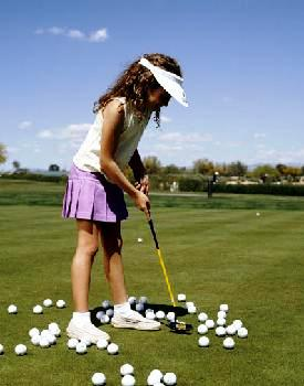 Golf clinics for kids at The Club at Savannah Harbor