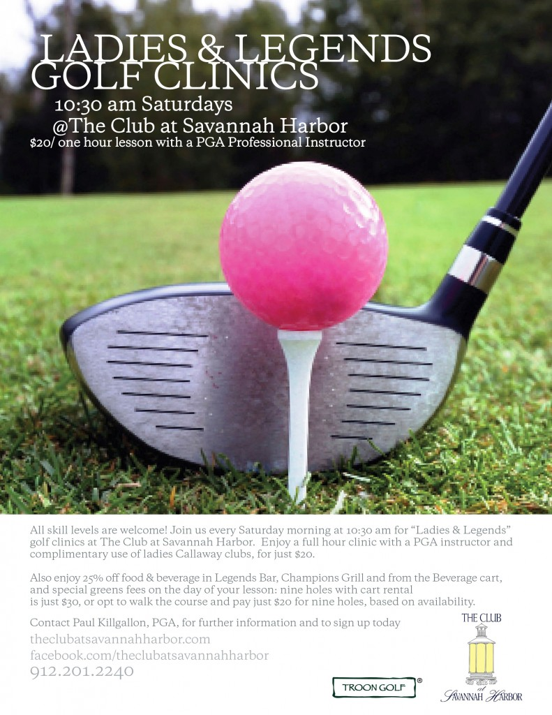 Ladies and Legends Saturday golf clinics Club at Savannah Harbor