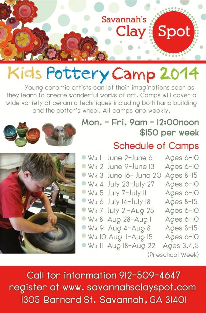 Pottery Camps Savannah 2014