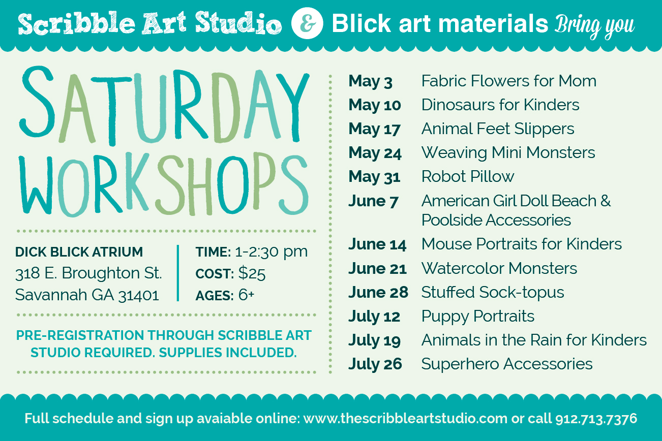 Savannah Saturday Scribble Art Workshops Blick